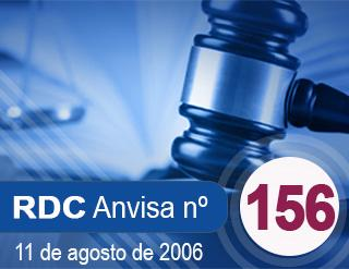 RESOLUÇÃO N° 156, 11 DE AGOSTO DE 2006