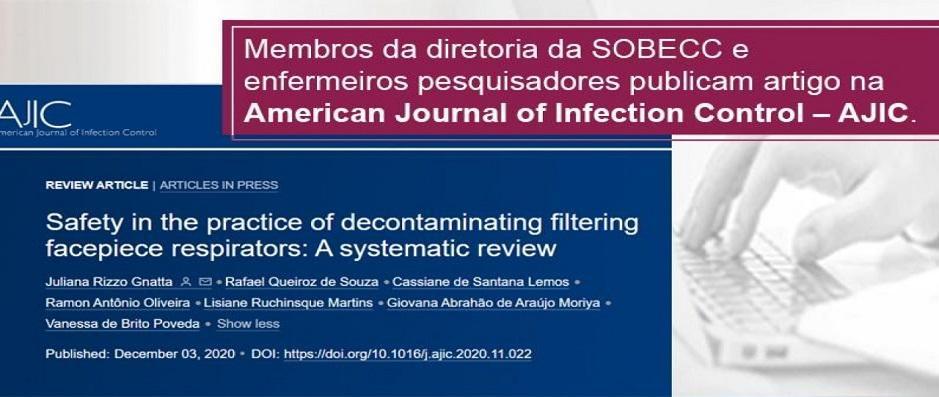 Membros da diretoria SOBECC e demais pesquisadores publicam artigo no AJIC