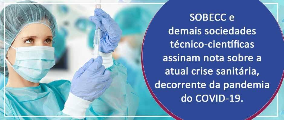 Sociedades técnico-científicas se solidarizam com  vítimas da COVID-19