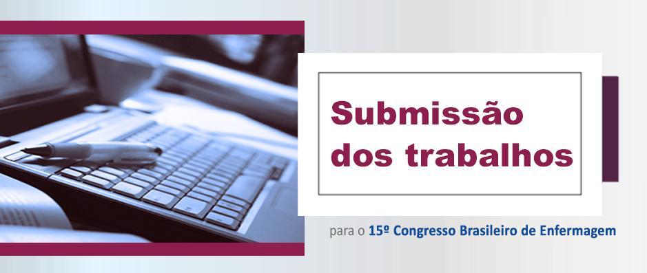 Atenção: Inscrições abertas para submissão dos trabalhos